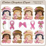 Pink Ribbon Girls - Clip Art