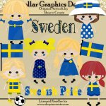 Swedish Dolls - Clip Art