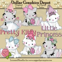 My Friend Fluffy - Pretty Kitty - Clip Art