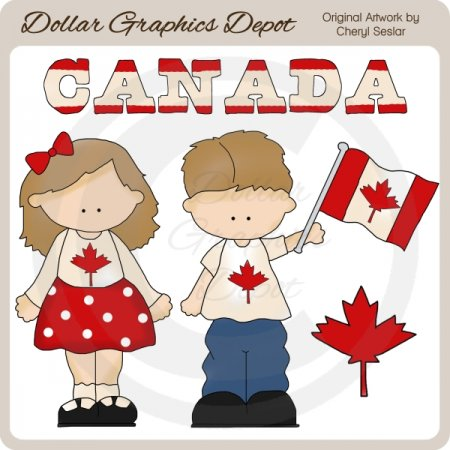Canadian Kids - Clip Art