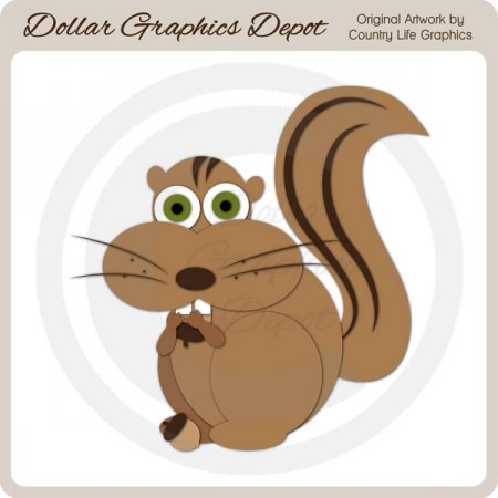 Forest Chipmunk - Cutting Files / Paper Piecing Patterns