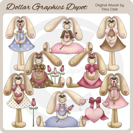 Sweet Bunnies - Clip Art