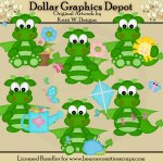Spring Dragons - Clip Art - *DGD Exclusive*