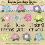 Floral Frenzy - Clip Art