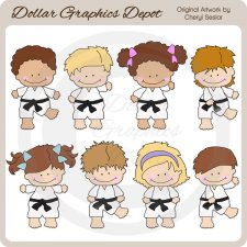 Karate Kids 3 - Clip Art