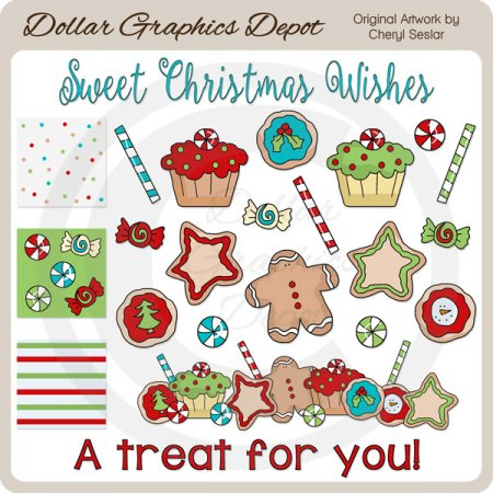Christmas Sweets and Treats - Clip Art