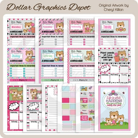 Busy Mama Bear - Planner Set