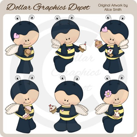 Bee Sweet 1 - Clip Art - *DGD Exclusive*