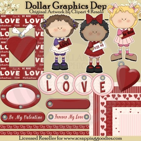 Be My Valentine - Scrap Kit