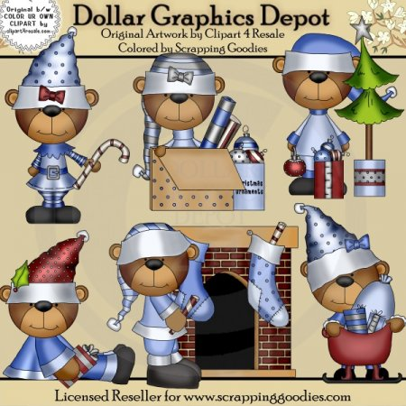 Christmas Bears - Clip Art