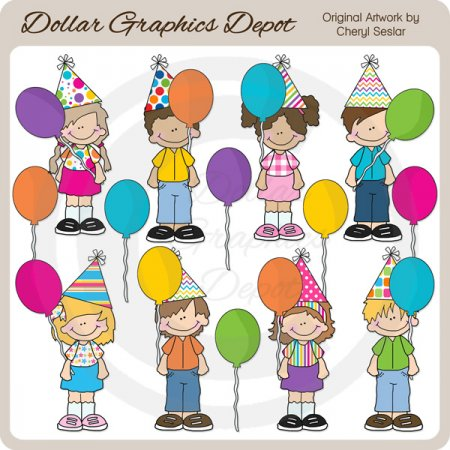 Big Kids - Birthday - Clip Art