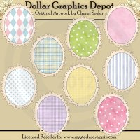 Oval Doodle Frames - Baby