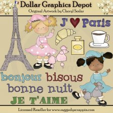 I Love Paris - Clip Art