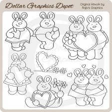 My Bunny Valentine - Digital Stamps