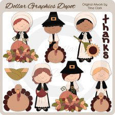 Thanksgiving Fancies - Clip Art