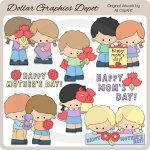 Mother's Day Kids 1 - Clip Art