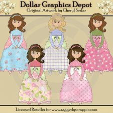 Beautiful Princesses - Clip Art - *DGD Exclusive*