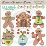 Jolly Gingerbread 2 - Clip Art