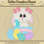 Easter Bunny 2 - Cutting Files / Paper Piecing - *DGD Exclusive*