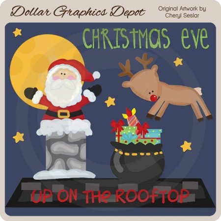 Christmas Eve - Clip Art