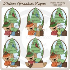 Woodsy Bears - Clip Art - *DGD Exclusive*