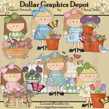 Lovely Lola - Spring Blooms - Clip Art