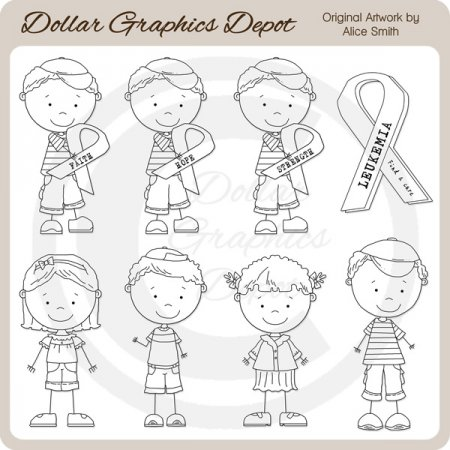 Leukemia Awareness Team Brandon - Digital Stamps *DGD Exclusive*