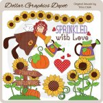 Sprinkled with Love - Clip Art