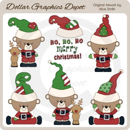 Christmas Bears 3 - Clip Art - *DGD Exclusive*