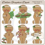 Sweet Gingerbread Christmas - Clip Art - *DGD Exclusive*