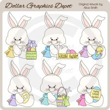 Easter Bunny Blessings - Clip Art - *DGD Exclusive*