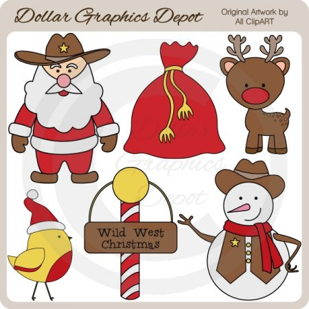 Wild West Christmas - Clip Art