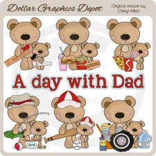 A Day With Dad - Clip Art