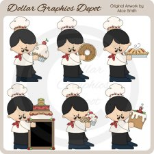 Pierre The Baker - Clip Art - *DGD Exclusive*