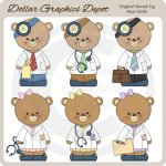 Occupation Bears - Doctors - Clip Art - *DGD Exclusive*