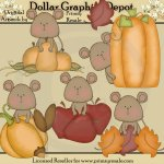 Fall Mice - Clip Art