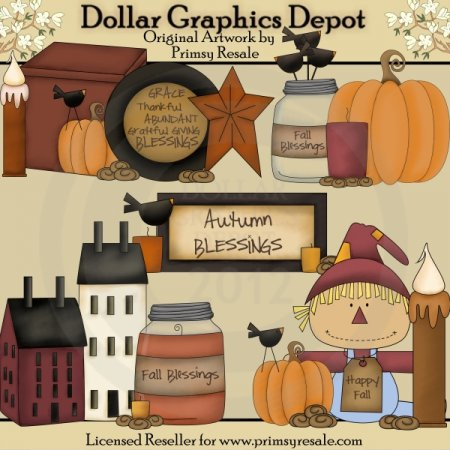 Fall Prims 1 - Clip Art