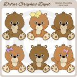 Sweet Baby Bears 1 - Clip Art - *DGD Exclusive*
