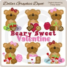 Beary Sweet Valentine - Clip Art