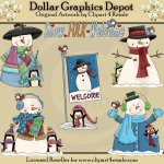 Snow Folk Welcome - Clip Art - *DGD Exclusive*
