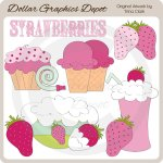 Strawberry Treats - Clip Art
