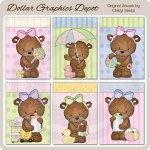 Bailey Bear Baby Cards - Printables