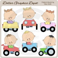 Pedal Car Toddlers - Clip Art - *DCS Exclusive*