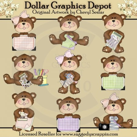 Little Scrapbook Bears - *DGD Exclusive*