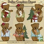 Biscuit The Christmas Bear - Clip Art