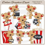 Sweetie Bears - Movie Time - Clip Art