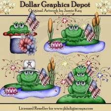 American Pride Frogs - Clip Art - *DGD Exclusive*