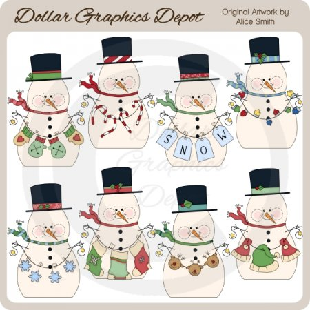 Snow Fellas - Clip Art - *DGD Exclusive*