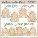 Sweet Little Babies - Clip Art