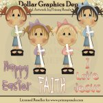 Girls of Faith - Clip Art